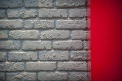 Gray brick wall in an interior Stock Photo