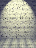 Gray brick wall lighted from above Royalty Free Stock Photos