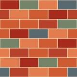 Gray Brick Wall Seamless Background vert orange rouge Photographie stock