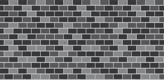 Gray brick wall seamless Vector. Gray brick wall seamless texture. Vector pattern Stock Image