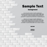 Gray brick wall with text. Abstract background with gray brick wall and sample text Stock Photography