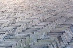 Gray bricks in the floor Stock Photo