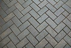 Gray bricks pavement royalty free stock photo