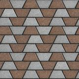Gray-Brown Paving Slabs in the Form Trapezoids Royalty Free Stock Images