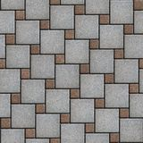 Gray-Brown Paving Slabs Laid Alternately Large and stock image