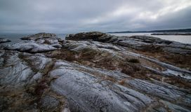 Gray and Brown Rock Formation Royalty Free Stock Image