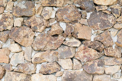 Gray and brown stone wall. Gray and brown stone wall with concrete Royalty Free Stock Photos