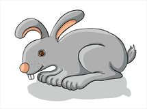 Gray Bunny illustration de vecteur