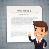Gray Business Background with Boss Royalty Free Stock Photos