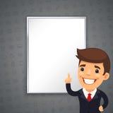 Gray Business Background con Boss Imágenes de archivo libres de regalías