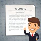 Gray Business Background con Boss Fotos de archivo libres de regalías