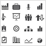 Gray business icons Royalty Free Stock Photography