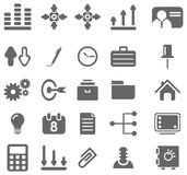 Gray business icons Stock Image