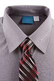 Gray business shirt and tie Royalty Free Stock Photo