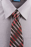 Gray business shirt and tie Royalty Free Stock Photography