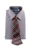 Gray business shirt and tie Stock Photo