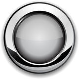 Gray button. Stock Images