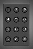 Gray button mobile phone Royalty Free Stock Images