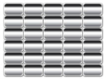 Gray buttons background. Gray buttons computer graphic abstract background Stock Image