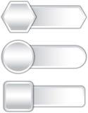 Gray buttons Royalty Free Stock Photos