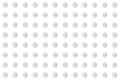 Gray buttons geometric abstract seamless pattern. Monochrome neutral white design background  illustration Stock Images