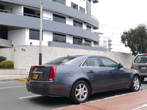 Gray Cadillac CTS Sedan in Barranco district of Lima Royalty Free Stock Image