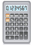 Gray calculator. Vector gray calculator on a white background Royalty Free Stock Photos