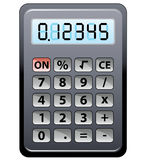 Gray calculator. Vector gray calculator on a white background Stock Photos