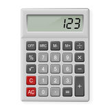 Gray Calculator Stock Photo
