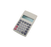 Gray calculator isolated on white background. Royalty Free Stock Image
