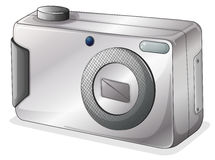 A gray camera Stock Images