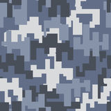 Gray camouflage seamless pattern Stock Images