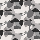 Gray camouflage seamless vector pattern. Royalty Free Stock Photo