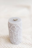 Gray candle ring Royalty Free Stock Photo