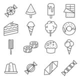 Gray Candy vector icon set on background stock photos