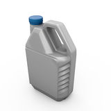 Gray canister with machine oil Stock Photo