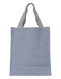 Gray canvas bag isolated on white background Stock Image
