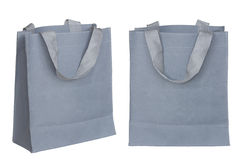 Gray canvas bag Stock Image