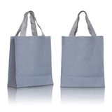 Gray canvas bag Royalty Free Stock Photos