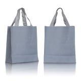 Gray canvas bag Royalty Free Stock Photos
