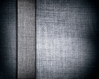 Gray canvas texture with stripe Royalty Free Stock Photography