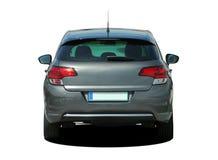 Gray car rear view Stock Image