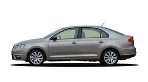 Gray car side view Stock Photo