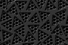 Gray carbon fiber frame on black mesh carbon background. Royalty Free Stock Image