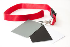 Gray card for adjusting white balance on the dslr camera Stock Photography