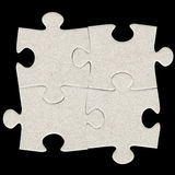 Gray cardboard jigsaw puzzle Royalty Free Stock Photography