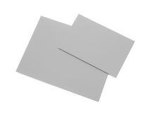Gray cards Stock Photo