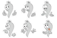 Gray cartoon worm design vector illustration with  Stock Photos