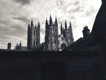 Gray Castle Photo during a Gloomy Day Royalty Free Stock Photos
