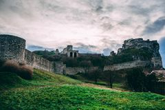 Gray Castle Under Cloudy Sky Stock Photos